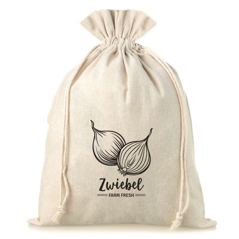 1 pc Linen bag with printing 30 x 40 cm - for onion (DE)