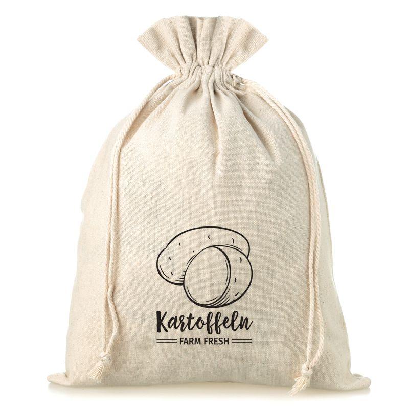 1 pc Linen bag with printing 35 x 50 cm - for potatoes (DE)
