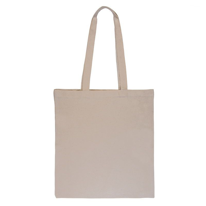 Natural cotton bag - ecru 38 x 42 cm with long handles