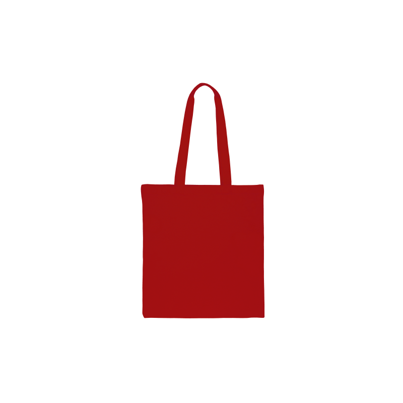 1 pc Cotton bag sized 38 x 42 cm with long handles - red