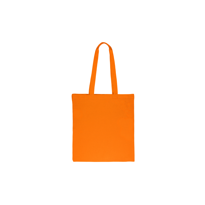 1 pc Cotton bag sized 38 x 42 cm with long handles - orange