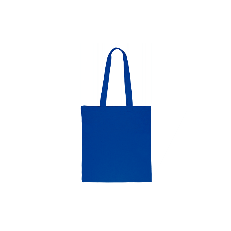 1 pc Cotton bag sized 38 x 42 cm with long handles - blue