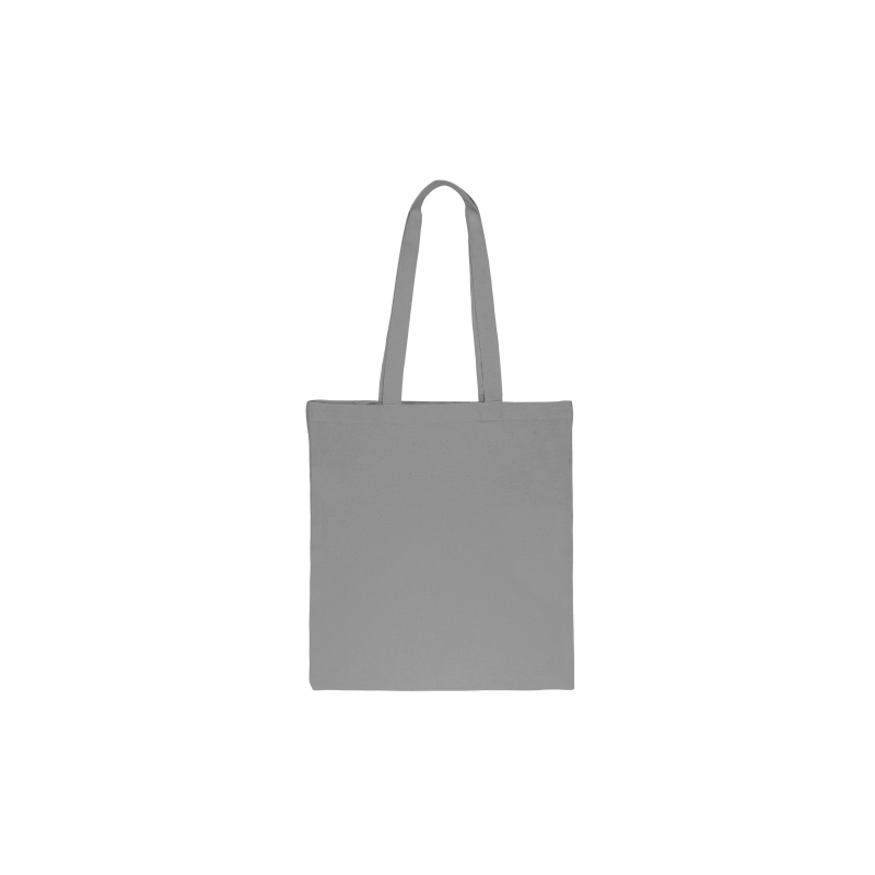 1 pc Cotton bag sized 38 x 42 cm with long handles - grey