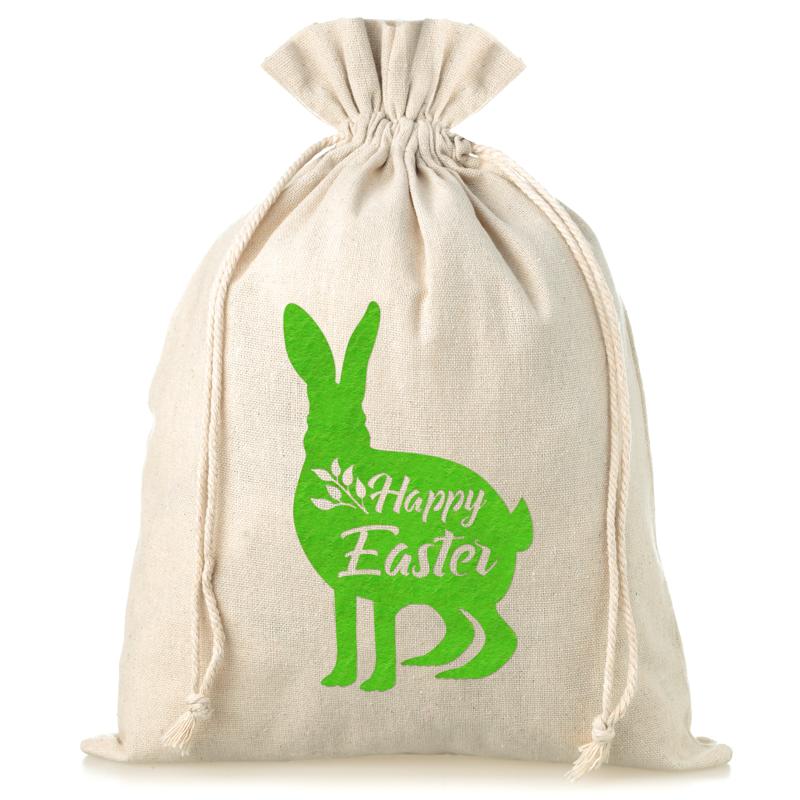 1 pc Linen bag 30 x 40 cm - Easter - bunny