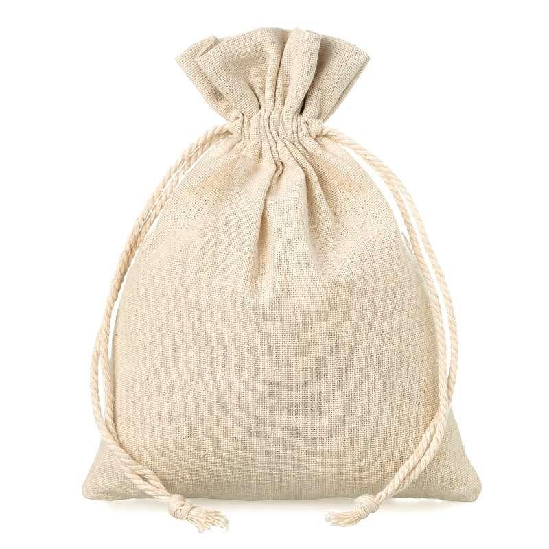 5 pcs Linen bag 15 cm x 20 cm - natural
