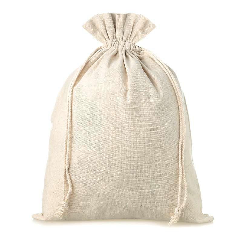 5 pcs Linen bag 18 cm x 24 cm - natural
