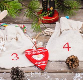 advent linen bags