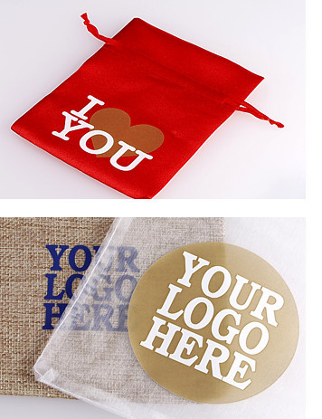 Organza bags with printed logo